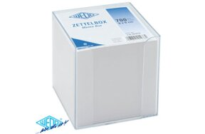 MEMO BOX WITH WHITE PAPERS